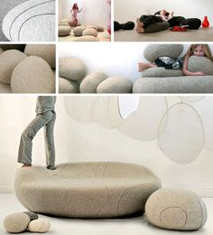 You then end up with something like a living room rock garden that encourages playful interactions and constant rearrangement, which could work great for kids rooms or minimalist settings alike. #Bizarre4home