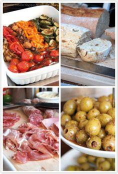 dreierlei liebelei – blog für schönes: Rezeptnachtrag: Antipasti, Ciabatta mit Oliven, Pepperoni und getrockneten Tomaten und selbst eingelegte Oliven