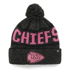 low priced 41194 ac27f Kansas City Chiefs Northmont Cuff Knit Charcoal 47 Brand Womens Hat