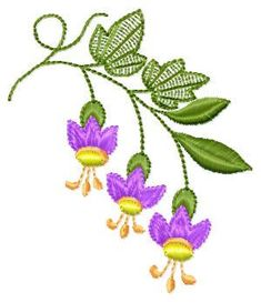 "Free embroidery design ""Campanula"", four colours , dimensions 78,7 mm x 67,6 mm. Free download flowers embroidery designs"
