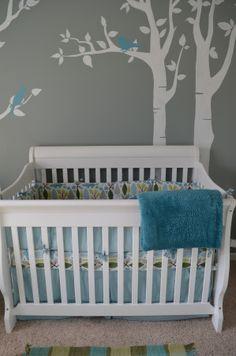Bird-themed boys nursery,