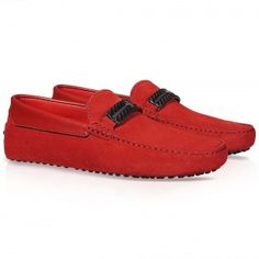 Tod's for Ferrari - Suede leather Cavallino Gommino loafers
