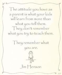 Quote on parenting by Jim Henson