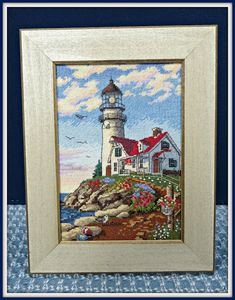 "The Book and Crafts Review Corner: Linda's Review of ""Beacon At Rocky Point"" Dimensions Gold Collection Cross-stitch Picture and Kit"