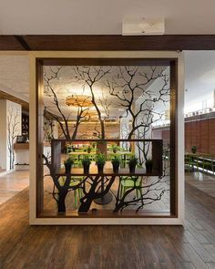Raumteiler Raumteiler Contemporary Room Dividers That Will Add Style To Your Home Wood Partition, Room Partition Designs, Partition Ideas, Living Room Partition, Living Room Divider, Wall Design, House Design, Divider Design, Design Room