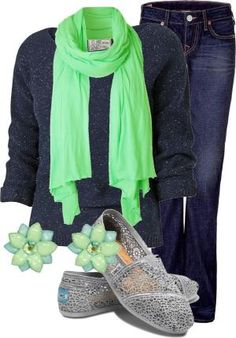 """""""Bright Scarf"""" by mandyful on Polyvore by Knittin4britain"""