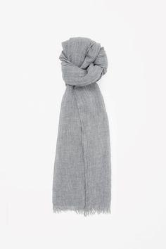 COS | Crinkled wool-modal scarf