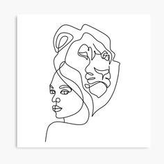 Leo horoscope sign, girl with lion animal head, woman face line art, minimalism, zodiac symbol drawing by OneLinePrint Symbol Drawing, Lion Drawing, Leo Zodiac Tattoos, Leo Tattoos, Zodiac Symbols, Zodiac Art, Tattoo Silhouette, Girl Symbol, Art Minimaliste