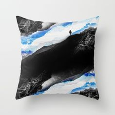 Vision of the frosty mountains Throw Pillow