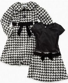 Girls Houndstooth Coat and Dress set
