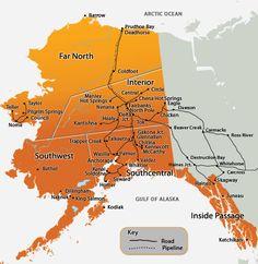 We are a huge state, but we don't have a lot of roads. Alaska road map