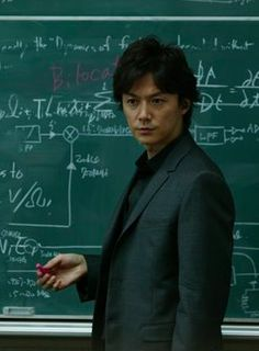 Galileo: Fukuyama Masaharu, Shibasaki Kou. #jdrama Japanese Drama, Physicist, Drama Series, Work Hard, Anime Art, Novels, Fictional Characters, Celebrities, Physique