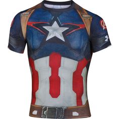 67887767229f Under Armour Tee-shirt Compression Alter Ego Captain America M pas cher -  Vêtements homme Under Armour running Tee-shirt Compression Alter Ego  Captain ...