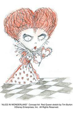 Tim Burton's Alice in Wonderland - Red Queen concept art 2