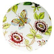 """12.6"""" MANILA FLOWERS SERVING PLATE Large round dinner plate to be used as a platter, buffet plate or charger."""
