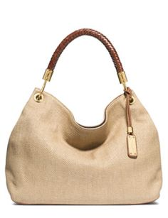 pretty woven leather Michael Kors tote