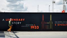 The design studio has worked on the branding and strategy for the ongoing London development, as well as creating an immersive visitor centre that looks to bring it to life Hoarding Design, Banner Design Inspiration, Battersea Power Station, Interactive Display, Foster Partners, Brand Campaign, Property Design, Environmental Graphics, Graphic Design Typography