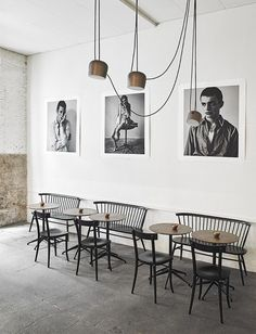 La Vaqueria Montanase, a raw and industrial restaurant in Madrid, with a great elegant interior