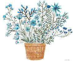 Flower Bucket by Vikki Chu