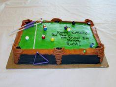POOL TABLE CAKE!!)