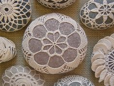 crochet covered rocks indulgy.com