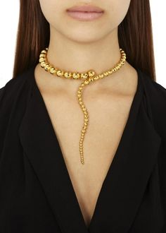 Glaucus gold-plated necklace - Jewellery - All Accessories - Women Gold  Plated Necklace, 25749ff564