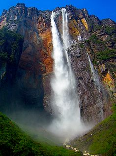 The World's Highest Uninterrupted Waterfall: Dragon Falls Venezuela