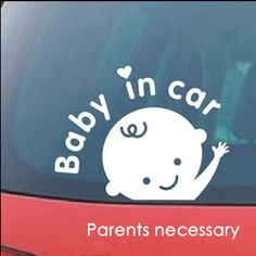 Free shipping Cartoon Car Stickers , Reflective Vinyl Styling Baby In Car Warming Car Sticker ,Baby on Board
