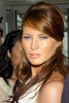 Melania Trump (then Melania Knauss) at a 2004 reception for Alex Rodriguez. http://beautyeditor.ca/2016/08/17/melania-trump-before-and-after