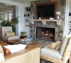 traditional living room by Dana Nichols...very similar to the fireplace in my home