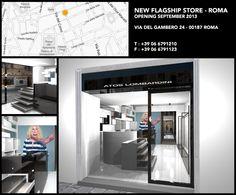 #ATOSLOMBARDINI Flagship #Shop - Via del Gambero 24 . 00187 #Roma . ITALY . Opening September 2013 - Tel +39 06 6791210