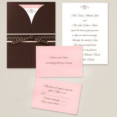 Wrapped in Romance Wedding Invitation | #exclusivelyweddings | #brownwedding