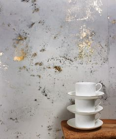 Looks suspiciously like marble. Is actually wallpaper made from carbon powder!! By Custhom design in the UK: http://www.custhom.co.uk/13/ #wallpaper #interiors