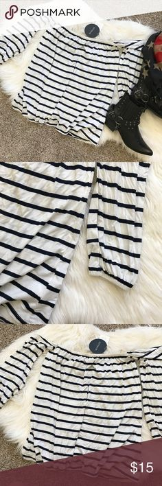 Striped Off the shoulder Top Brand new with tag' white and Navy stripes. Elastic band on wrist and top.     Feel free to make an offer using the offer button (please note: lowball offers will be declined), let's negotiate! 💞 NO OUTSIDE TRANSACTIONS OR TRADES ACCEPTED. Usually ships next business day. Please do not comment asking my lowest, those comments will be ignored. ALL OFFERS WILL BE FINAL SALE! Cotton On Tops
