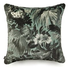 Limerence Large Velvet Cushion Fern