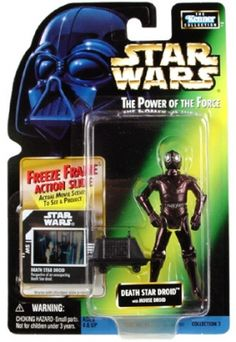 STAR WARS : Costumes and Toys : Star Wars Action Figure - Death Star Droid with Mouse Droid - Freeze Frame Action Slide - POTFG