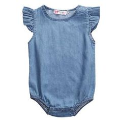 Cheap infant baby, Buy Quality rompers rompers directly from China summer baby girl romper Suppliers: Newborn Infant Baby Girls Denim Romper Summer Lotus sleeve Jumpsuit Clothes Playsuit Outfit Jumpsuits For Girls, Girls Rompers, Baby Outfits, Kids Outfits, Jumpsuit For Kids, Baby Girl Romper, Baby Girls, Baby Baby, Toddler Girls