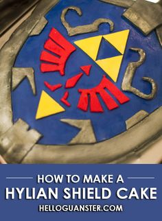 How to Make a Hylian Shield Cake. Legend of Zelda.
