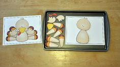The Build a Turkey Cookie Sheet Activity is a Thanksgiving themed activity. In this activity, students assemble a turkey by looking at a model.This activity can be completed as a cookie sheet activity or a craft. Early Learning Activities, Teaching Themes, Literacy Activities, Movement Activities, Preschool Centers, Preschool Printables, Preschool Activities, File Folder Activities, File Folder Games