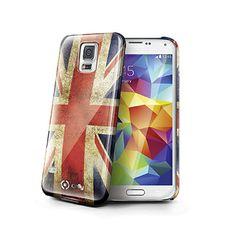 #Cover #vintage UK per Galaxy #S5 effetto opaco. La cover, sagomata, aderisce perfettamente ai bordi del dispositivo Samsung proteggendolo da cadute accidentali, urti, graffi e sporco senza deformarsi o allentarsi, garantendo facile accesso a comandi, connettori, speaker e fotocamera, e permettendo di ricaricare il device senza estrarlo dalla cover. Gelskin4Fun Celly è la soluzione ergonomica ideale per proteggere il telefono che dona un aspetto vintage allo smartphone.