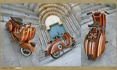 When I say Vespa - You say wooden! | Art And Chic