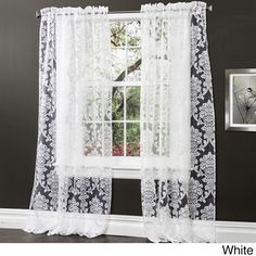 Lush Decor Brea 84-inch Sheer Curtain Panel Pair | Overstock™ Shopping - Great Deals on Lush Decor Sheer Curtains