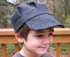 The Eddie Cap Tutorial is the perfect way to outfit a little boy for fall. Sewn hat patterns like this little newsboy cap will keep your little fella's head warm, and this one is just too cute for words!