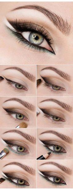 58 Trendy Makeup Tutorial Eyeliner Make Up Eye Makeup Tips, Makeup Inspo, Makeup Inspiration, Glamouröses Makeup, Makeup Ideas, Eyeshadow Makeup, Contouring Makeup, Glitter Eyeshadow, Makeup Geek