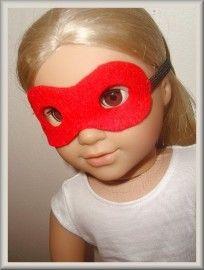 Free pattern to make American Girl super hero mask.