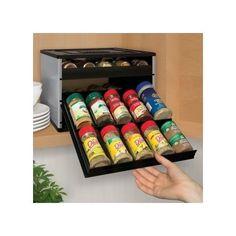 Kitchen Cabinet Spice Rack Jar Organizer Countertop Storage Drawer Pantry Shelf