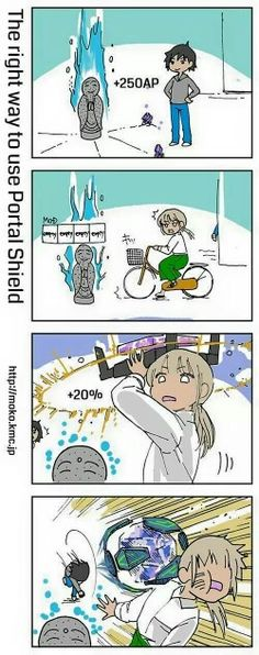 The Right Way To Use Portal Shield #Ingress #Comics