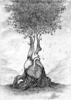 """Human heart is like a tree whose roots are buried deep within the soul, seeking for beauty and understanding in an endless circle."