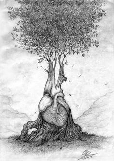 """""""O coração humano é como uma árvore cujas raízes estão enterradas nas profundezas da alma, em busca de beleza e compreensão em um círculo sem fim."""
