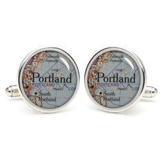 Portland   cufflinks  wedding baby shower gifts for by etnecklace, $16.99